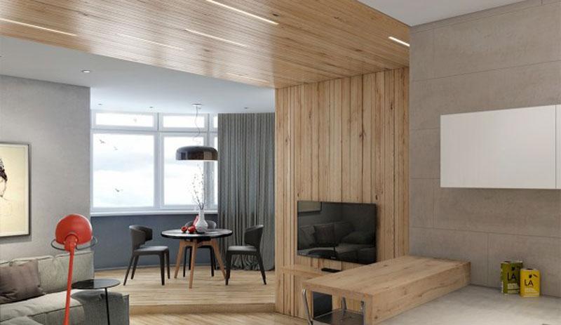 Desain Interior Dengan Bahan Panel Kayu